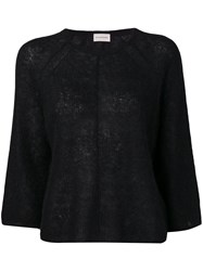 By Malene Birger 3 4 Sleeve Knitted Top Black