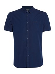 Linea Morrison Denim Short Sleeve Shirt Indigo