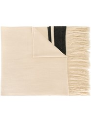 Isabel Marant 'Carlyn' Scarf Nude And Neutrals