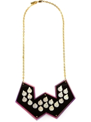 Sarah Angold Studio Spiked Necklace Pink And Purple