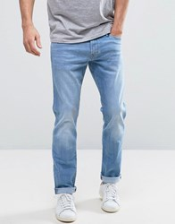 Esprit Slim Fit Jeans In Light Blue Wash Light Blue