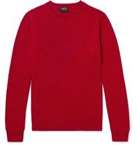 A.P.C. Felix Wool And Cashmere Blend Sweater Red