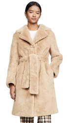 Opening Ceremony Reversible Faux Fur Coat Black Camel