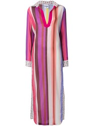 Michel Klein Multi Stripe Beach Dress Multicolour