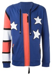 Unconditional Americana Patched Hoodie Blue