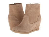 Minnetonka Side Zip Hidden Wedge Taupe Suede Women's Boots