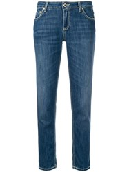 Dondup Cropped Slim Fit Jeans Blue