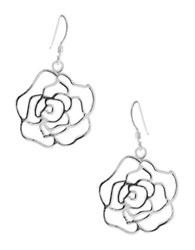 Lord And Taylor Sterling Silver Rose Earrings