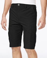 Ocean Current Men's Peached Cargo Shorts Black