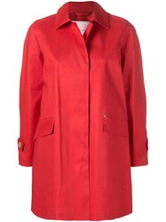 Mackintosh Berry Red Bonded Cotton Coat Lr