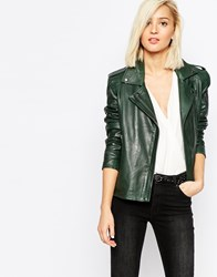 Selected Alice Leather Jacket Scarab