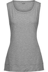 Yummie Tummie By Heather Thomson Cameron Cutout Stretch Jersey Tank Gray