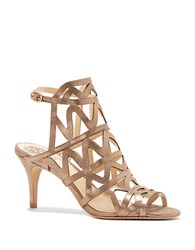Vince Camuto Prisintha Leather Dress Sandals Beige