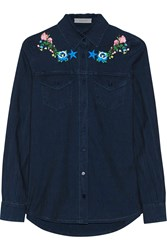 Preen Line Nevada Embroidered Chambray Shirt Blue