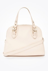 Forever 21 Faux Leather Satchel Blush