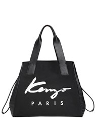 Kenzo Essentials Canvas And Leather Tote Bag
