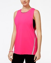 Jessica Simpson The Warm Up Juniors' Layered Sports Bra Tank Top Only At Macy's Pink Highlight