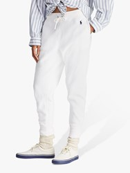 Ralph Lauren Polo Ribbed Ankle Sweatpants White
