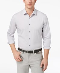 Alfani Men's Modern Striped Shirt Created For Macy's Smooth Sil