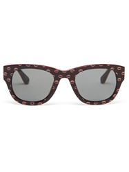 Jeremy Scott Glitter Kiss Sunglasses