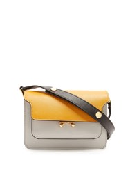 Marni Trunk Mini Leather Cross Body Bag Yellow Multi