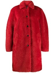 Paul Smith Ps Single Breasted Faux Fur Coat 60