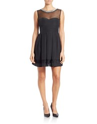 Guess Illusion Fit And Flare Dress Black