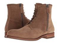 Aquatalia By Marvin K Victor Taupe Dress Suede Men's Zip Boots Brown