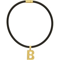 Balenciaga Black Elastic Necklace