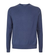 Canali Cashmere And Silk Blend Jumper Male Blue