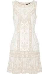 Needle And Thread Embellished Chiffon Mini Dress Ecru