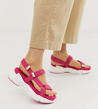 Stradivarius Chunky Strappy Sandals In Pink