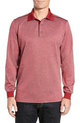 Bobby Jones Classic Fit Jacquard Polo Cranberry