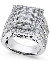 Macy's Diamond Cluster Engagement Ring 5 Ct. T.W. In 14K White Gold