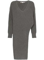 Stella Mccartney Long Knitted Jumper Grey
