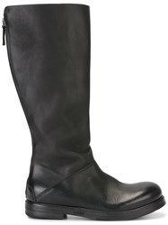 Marsell Rear Zip Boots Black