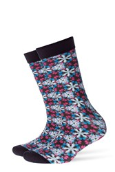 Burlington Printed Cotton Ankle Socks Multicolor