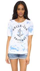 Sundry Belle Ile Short Sleeve Top Tie Dye Fiji
