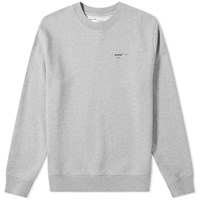 Off White Logo Crew Sweat Grey
