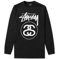 Stussy Long Sleeve Stock Link Tee Black