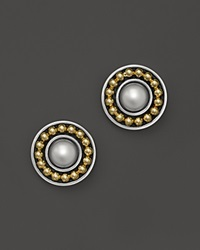 Lagos 18K Gold And Sterling Silver Enso Round Post Earrings