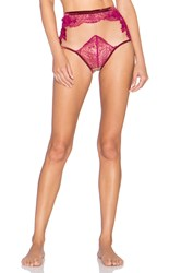 For Love And Lemons Flower Blossom Hi Waist Panty Fuchsia