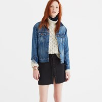 Madewell Lace Up Skirt True Black