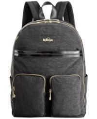 Kipling Tina Laptop Backpack Black Patent Combo
