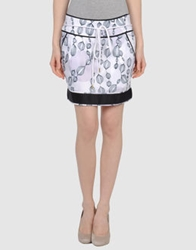 Miriam Ocariz Mini Skirts Light Grey