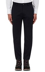 Moncler Gamme Bleu Men's Cotton Slim Trousers Navy
