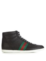 Gucci Bambi Glitter High Top Trainers Black Multi