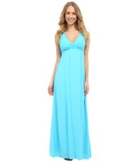 Hard Tail Twisty Back Maxi Dress Surf Women's Clothing Blue