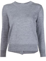 Marc Jacobs Embellished Button Jumper Grey