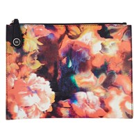 Karen Millen Beautiful Blurred Floral Print Pochette Multi